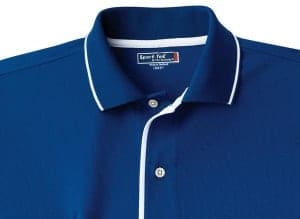Sport shirt with contrasting color trim