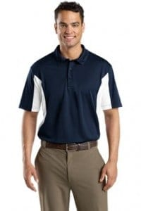 Sport shirt with contrasting side blocks