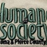 Photo of Humane Society logo with puff stitching