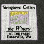 Stringtown wine label modified to embroidered logo