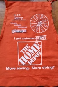 image of embroidered and screen printed apron