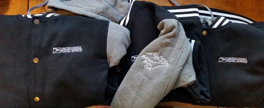 image of embroidered US Postal Service jackets - Tacoma