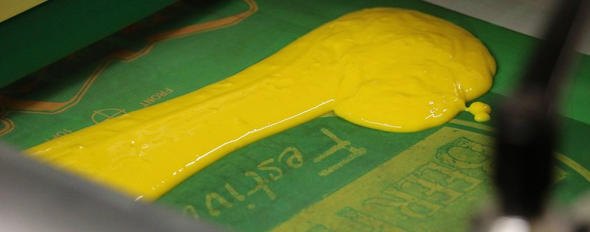 image of ink in screen printing tray - federal way, fife, des moines, WA