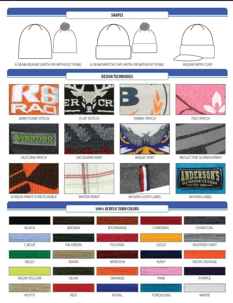 custom knit winter caps decoration options - Des Moines, Mercer Island, Lakewood, WA