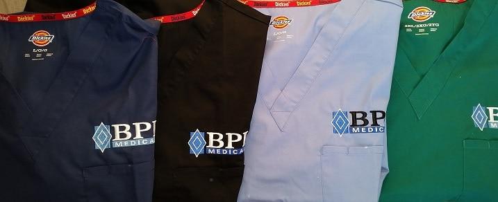 custom embroidered nurse scrubs and medical lab coats Seattle Portland Scottsdale Phoenix