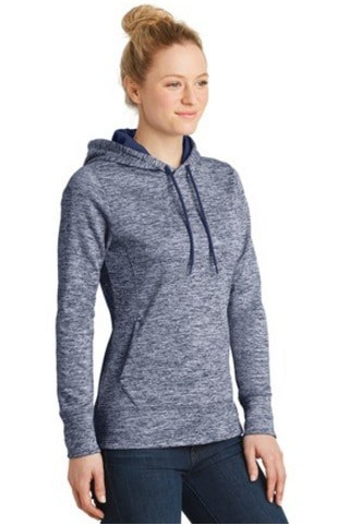 Image of model wearing LST225 ladies' hoodie