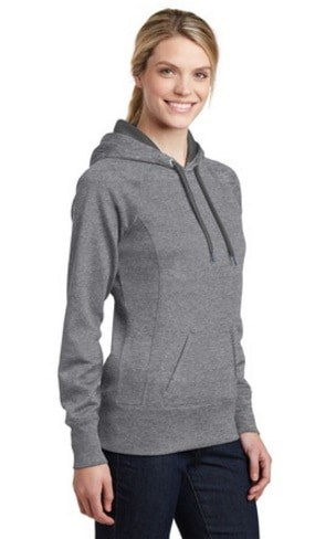 Image of model wearing LST250 vintage hoodie
