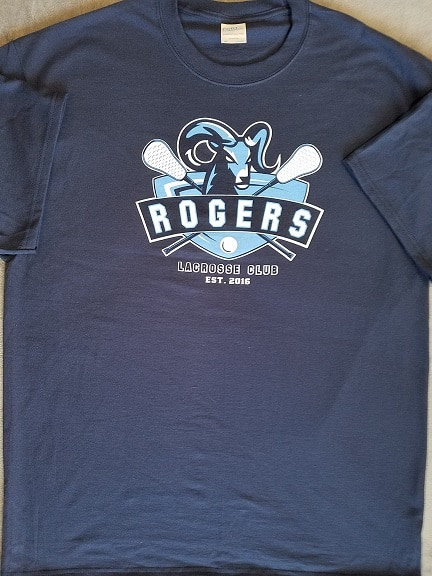 Images of screen printed navy 100% cotton tee - Puyallup