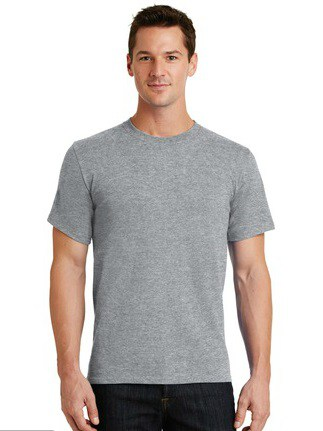 image of model wearing PC61 athletic heather tee