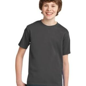 Image of model wearing charcoal PC61Y tee