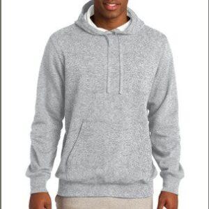 image of model wearing ST254 athletic heather hoodie