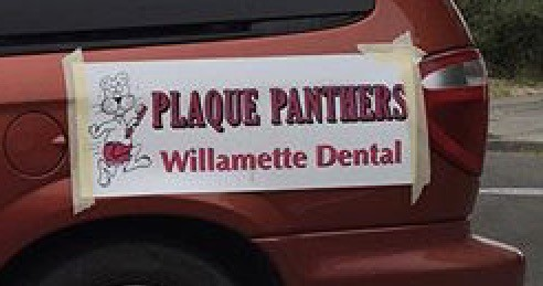 Image of banner with Willamette Dental art - Portland