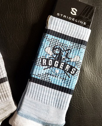 image of custom Strideline team sock for Rogers Lacrosse