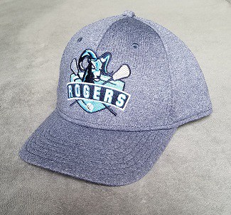 Image of custom cap with heathered fabric and Rogers logo