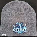 Image of embroidered heathered Rogers beanie