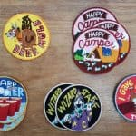 image of five different custom embroidered patches for Oregon client