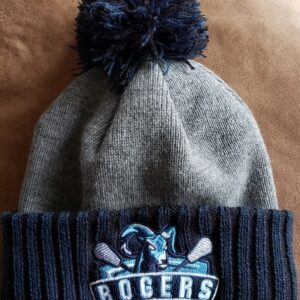Photo of embroidered Rogers Lacrosse New Era Pom beanie - Puyallup